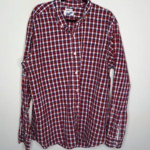 Old Navy Red Plaid Regular Fit Button Down 2XL